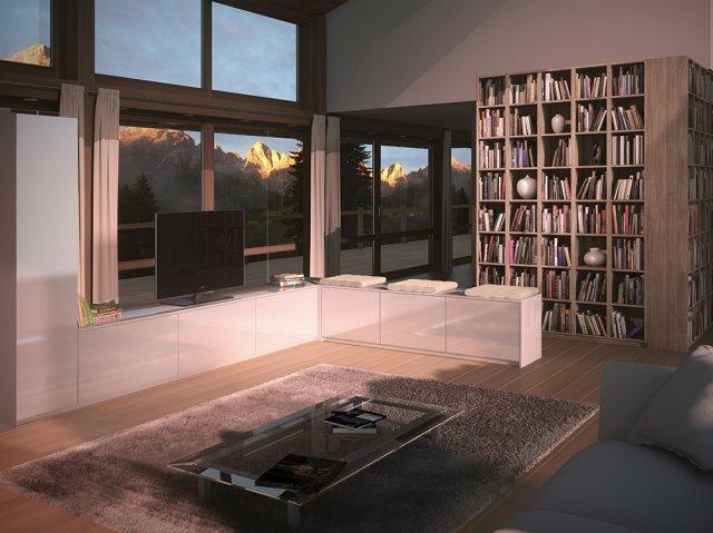 Intégrer une bibliothèque dans le salon