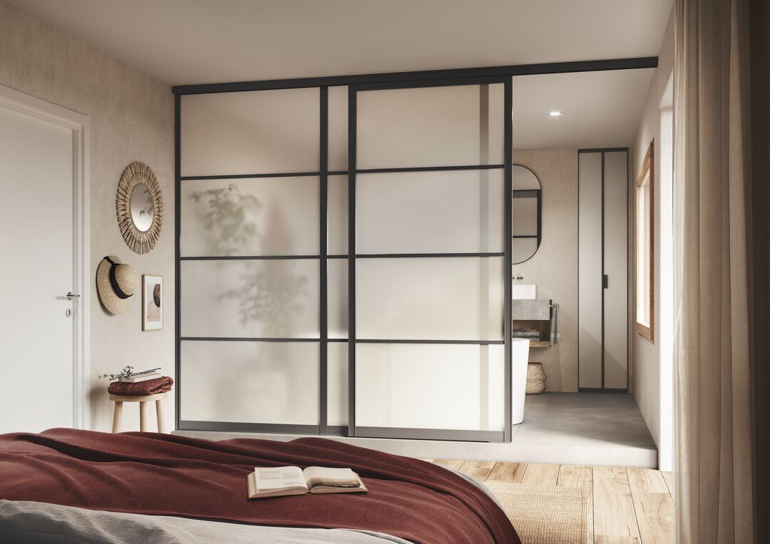Des cloisons mobiles pour une chambre au style japonais