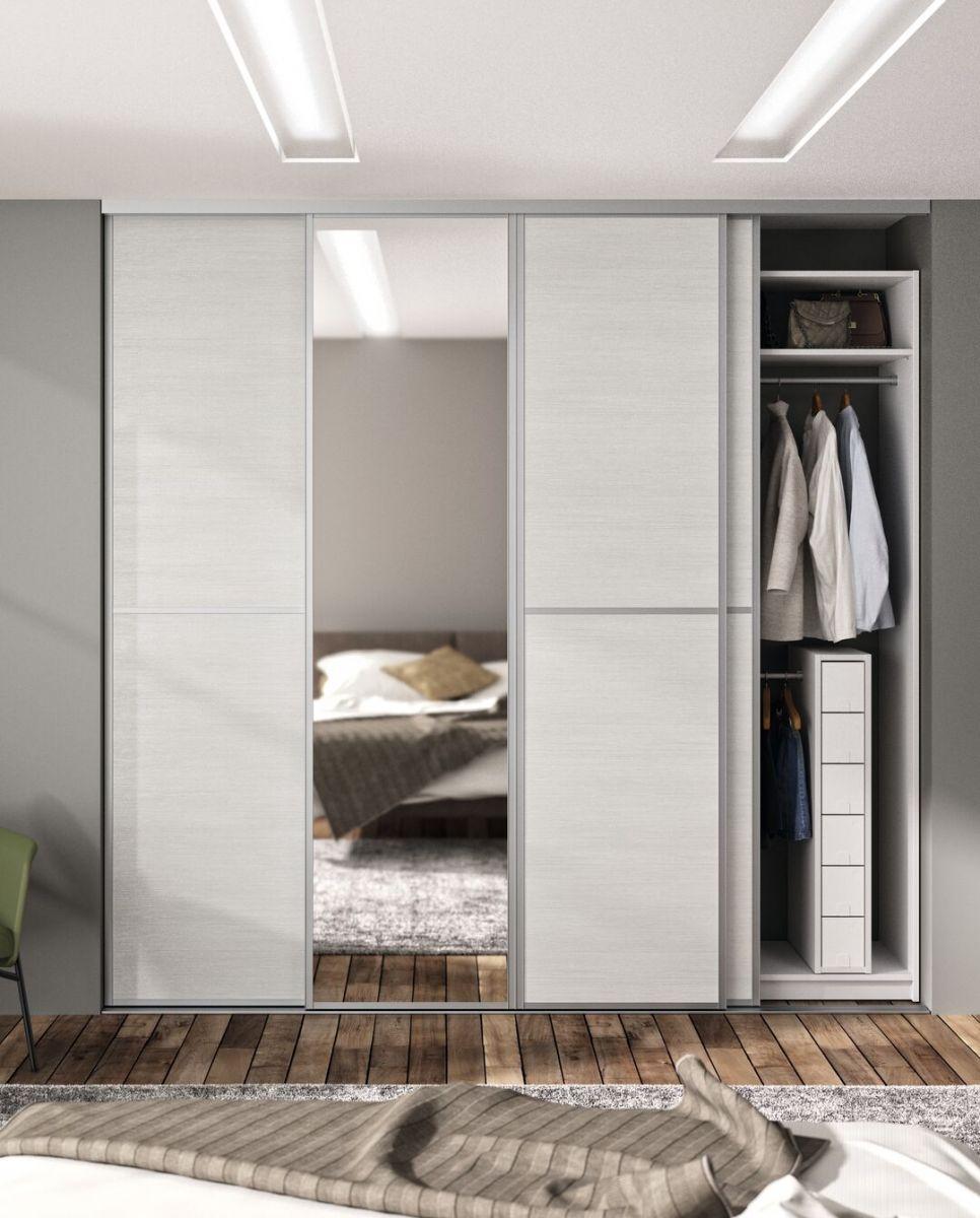 Porte de placard coulissante avec miroir