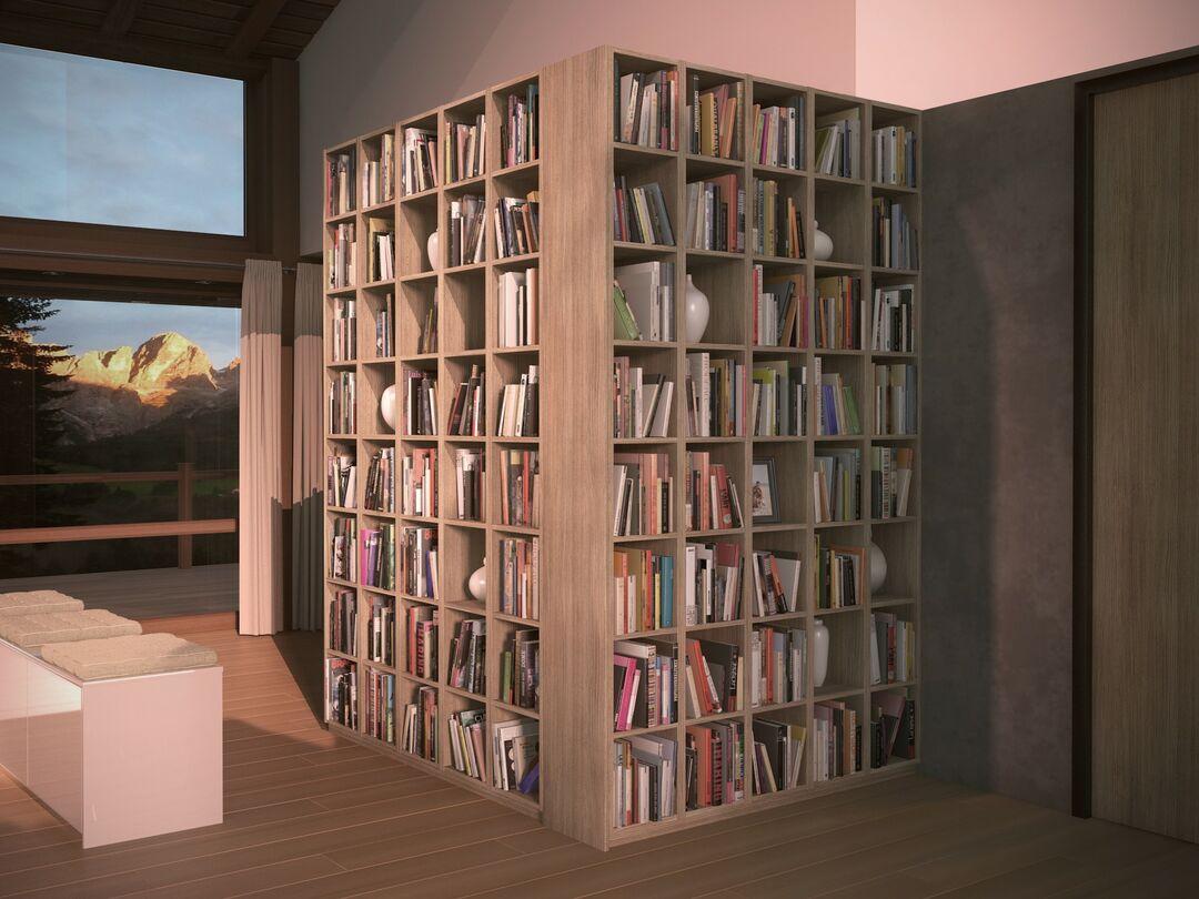 bibliothèque salon
